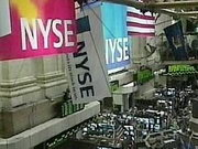 На фондовой бирже Нью-Йорка зафиксирован рекорд роста акций