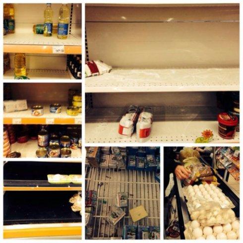 Українські супермаркети пустують – люди все скупили