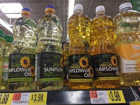 Украинское подсолнечное масло продают в США по 4$ за литр: фотофакт