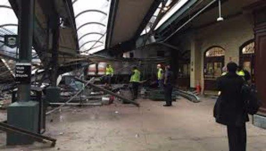 Крушение поезда в Нью-Джерси