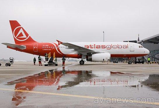 Atlasjet в мае выполнит дополнительные рейсы в Харьков вместо Запорожья