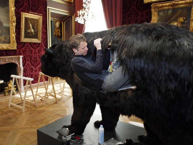 В музее Парижа художник-акционист продолжает высиживать цыплят