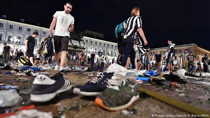 В массовой давке в Турине ранено более 1500 человек