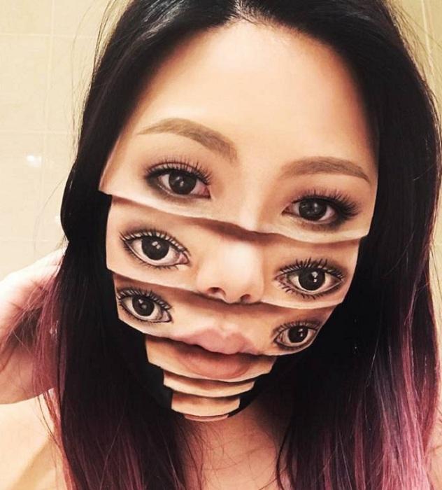 Канадский визажист удивляет невероятными оптическими иллюзиями на лице