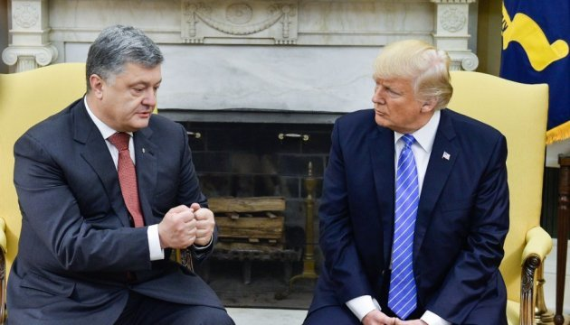 Трамп о прогрессе в переговорах с Порошенко и за расширение военного сотрудничества с Украиной