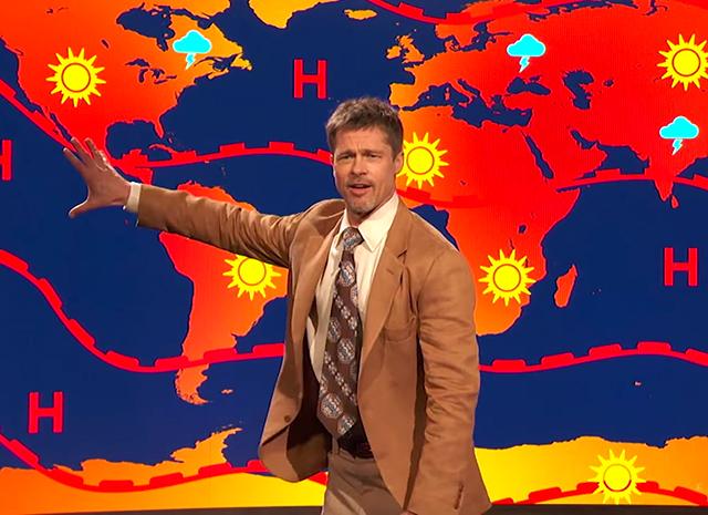Брэд Питт предстал в образе ведущего прогноза погоды (видео)