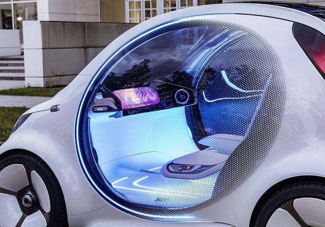 Smart показал городскую машину будущего без руля и педалей (фото)