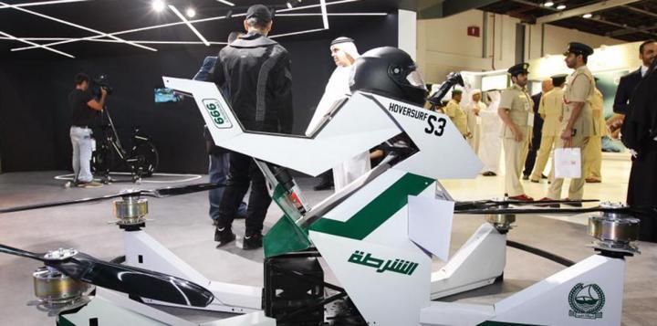 Полиция Дубая тестирует «летающие мотоциклы» российского производства