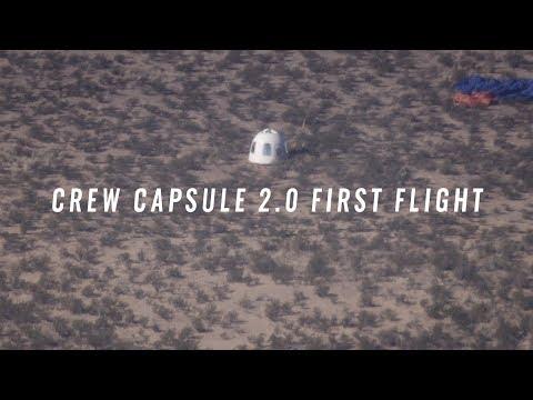 Blue Origin впервые испытала капсулу туристического космического корабля с «самыми большими окнами в космос»