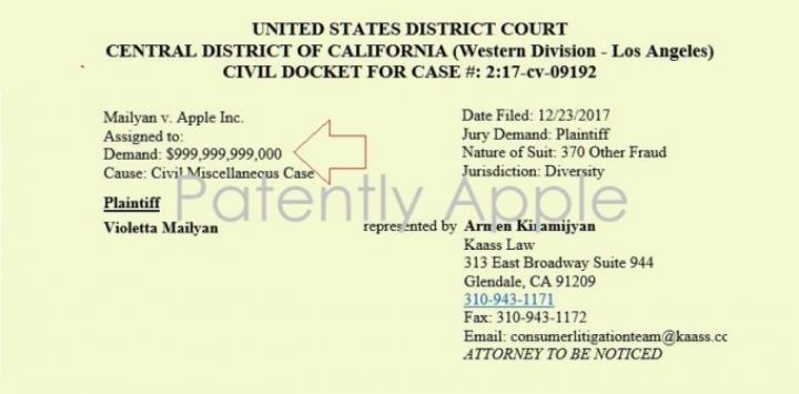 Американка подала на Apple в суд и требует $999 999 999 000