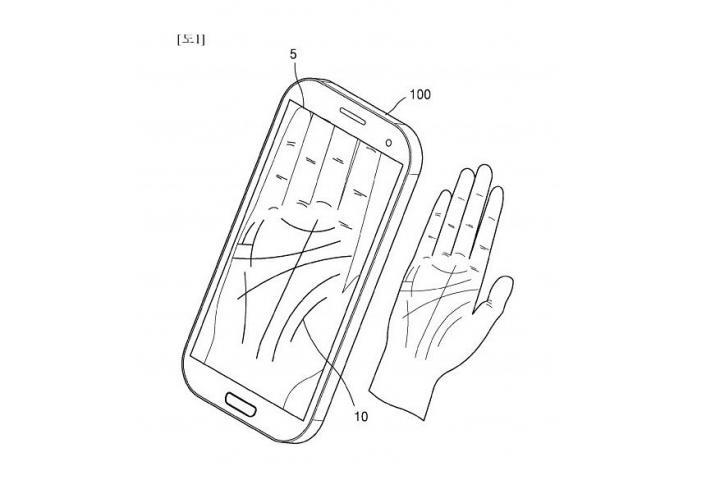 Samsung запатентовал идентификацию пользователей по ладони