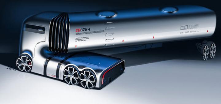 Дизайнеры из СНГ представили концепт робогрузовика для Audi (фото)