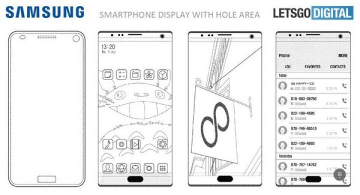 Samsung запатентовал дисплей с дырками