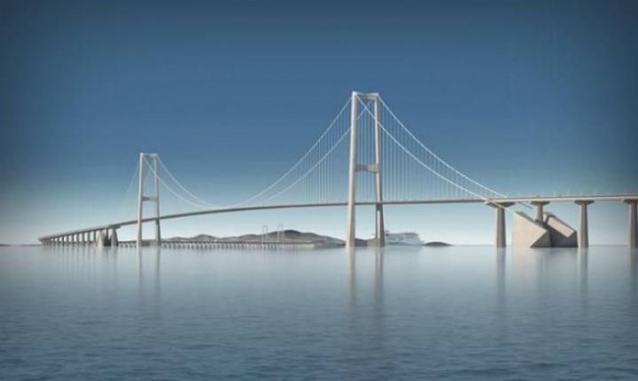 В Китае строят 17-километровый мост (фото)