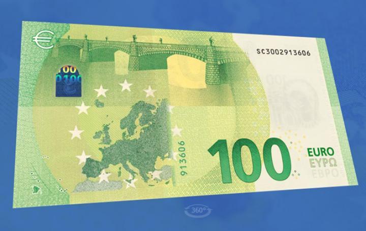 В Евросоюзе показали новые банкноты номиналом 100 и 200 евро (фото)