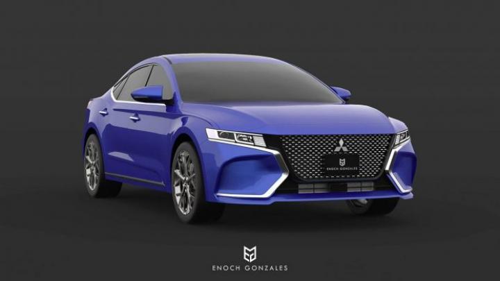 Появились рендерные изображения Mitsubishi Galant нового поколения