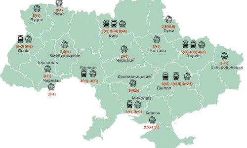 Как в этом году изменилась цена на проезд в Украине (таблица)