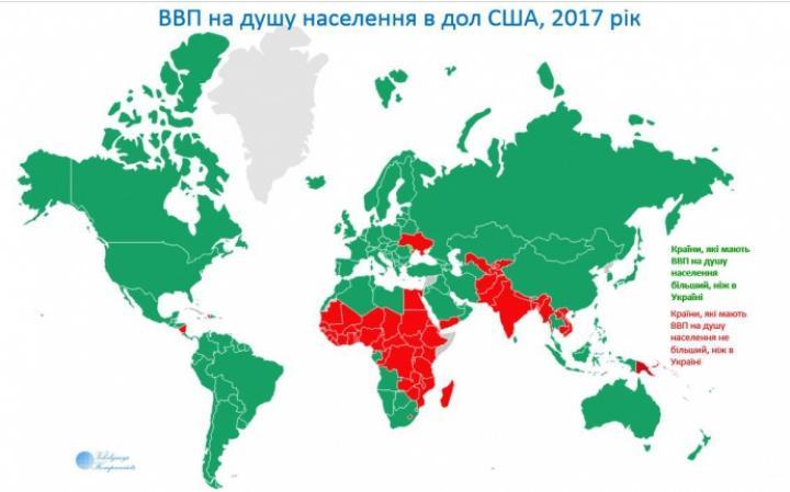 Украина стала беднейшей страной Европы — данные МВФ (инфографика)