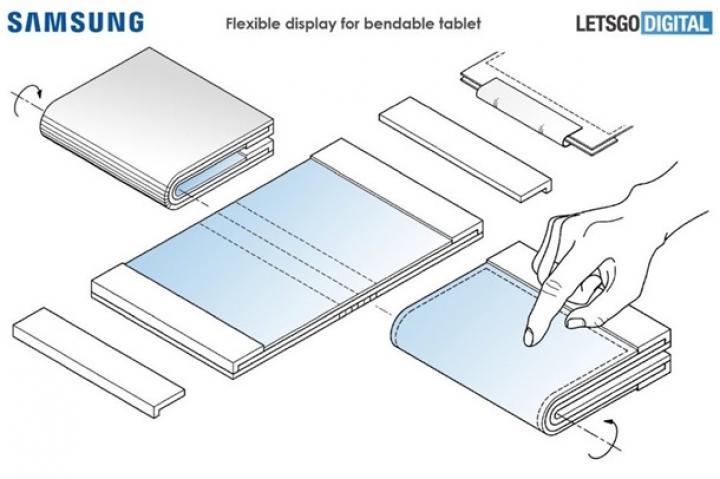 Samsung разрабатывает гибкий планшет (схема)