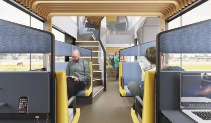 В Нидерландах придумали поезда-коворкинги, в которых можно будет работать по пути на работу (фото)