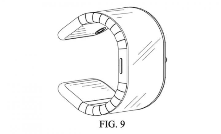 В Китае запатентовали смартфон, который можно согнуть в браслет