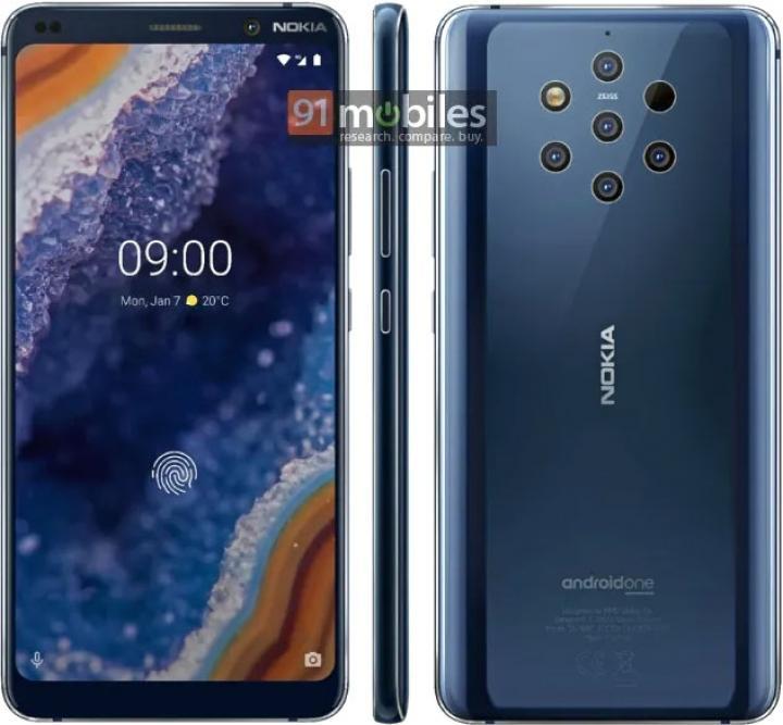 Nokia 9 PureView: много камер и сканер отпечатков под дисплеем (фото)