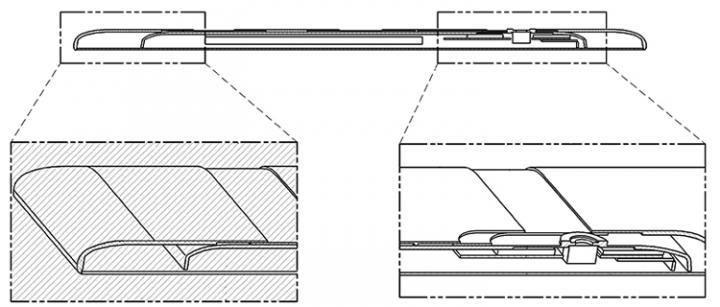 LG раздумывает над растягивающимися смартфонами (схема)