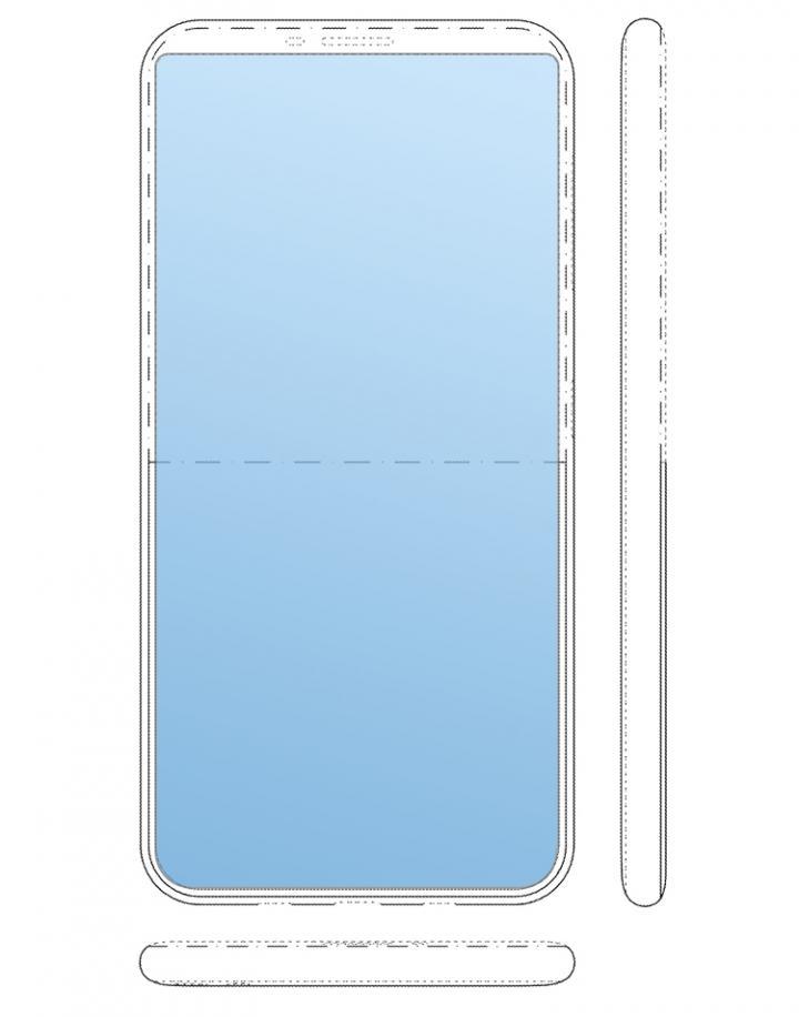 Samsung проектирует смартфон с дисплеем на тыльной панели (фото)