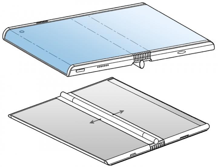 Samsung проектирует смартфон с гибким закругленным дисплеем (фото)