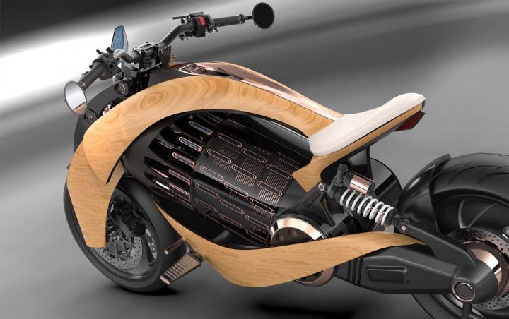 Компания Newron создала деревянный электро-мотоцикл (фото)