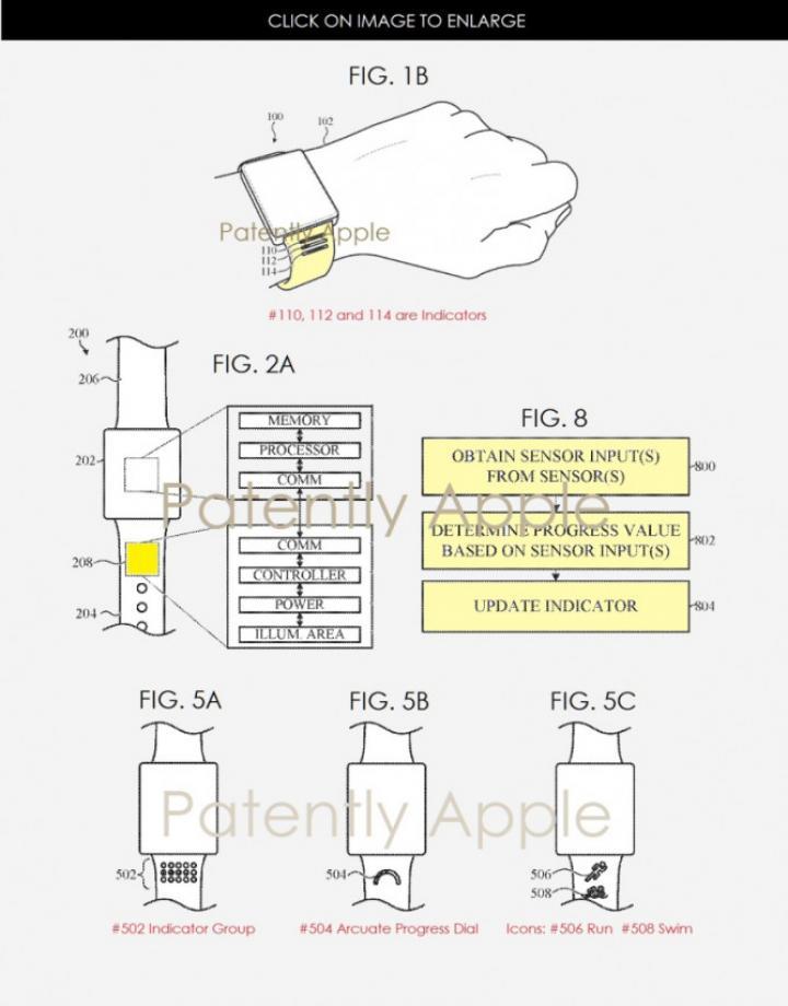 Apple Watch оснастят умными ремешками (схема)