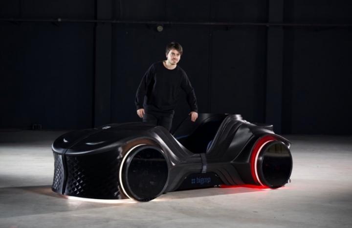 Инженеры напечатали на 3D-принтере электроспорткар (видео)