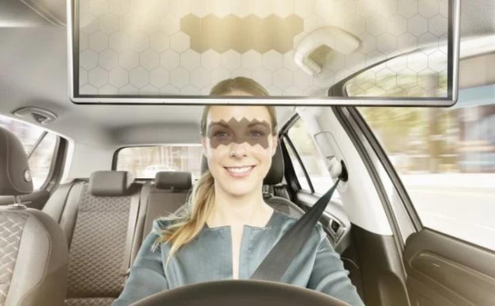 Представлен умный козырек для авто – Bosch Virtual Visor