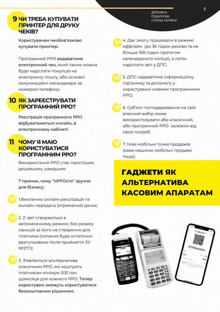 Налоговая ответила на самые распространенные вопросы плательщиков относительно внедрения РРО (инфографика)