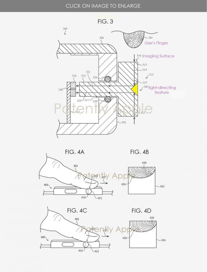 Apple придумала, где можно разметить Touch ID в Apple Watch (фото)