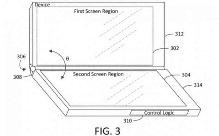 Microsoft запатентовал планшет с тремя экранами (фото)