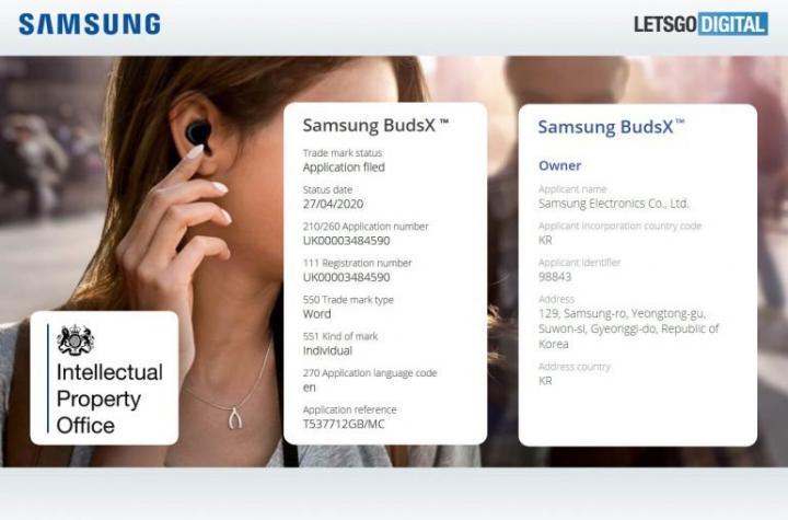 Samsung Galaxy BudsX смогут выполнять роль плеера и фитнес-трекера
