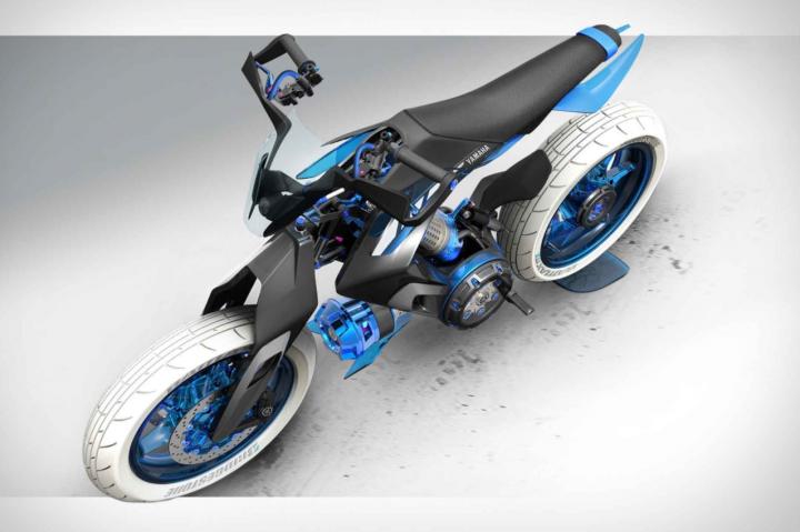 Yamaha показала концепт мотоцикла с водяным приводом