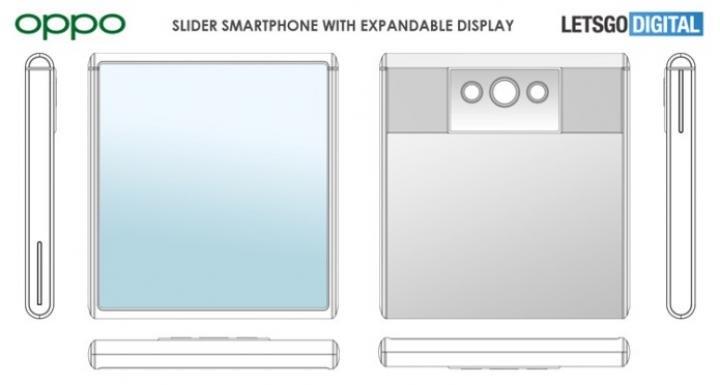 OPPO разрабатывает смартфон-слайдер с гибким дисплеем (схема)