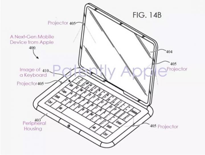 Apple запатентовала планшет будущего с проекцией клавиатуры на стол