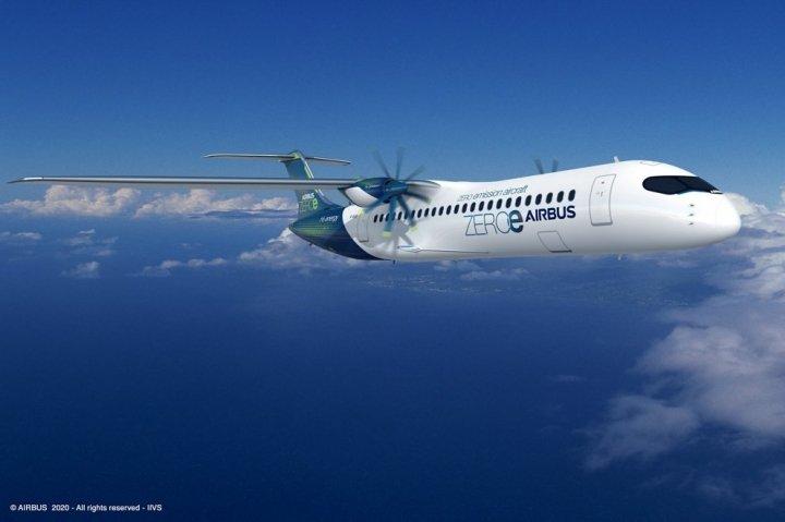 Airbus представил концепты первых самолетов с