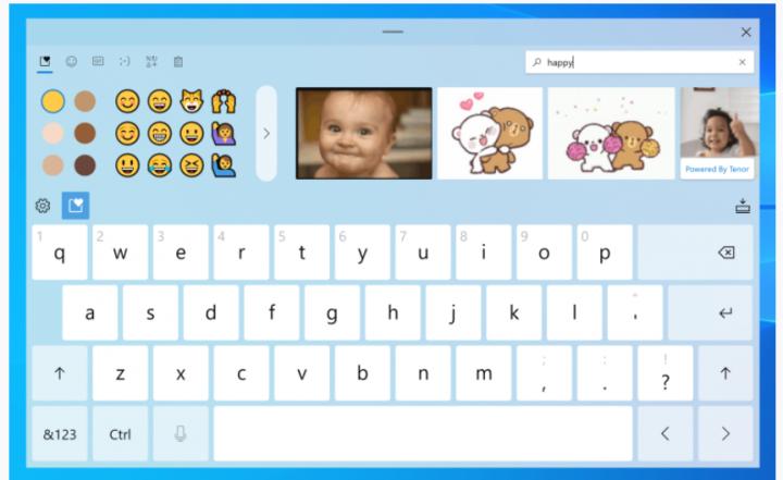 Windows 10 получит обновлённую экранную клавиатуру, улучшенную работу с эмодзи