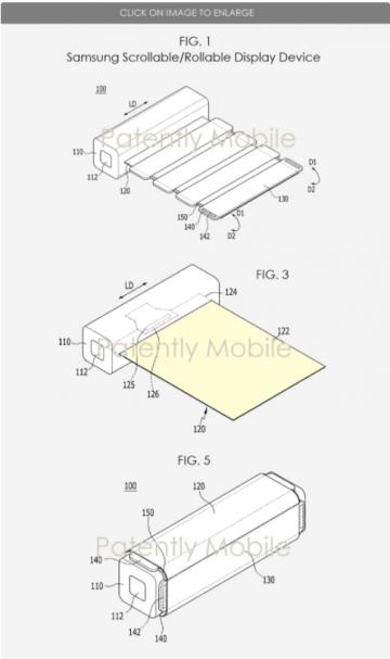Samsung запатентовала сворачиваемый экран для смартфонов