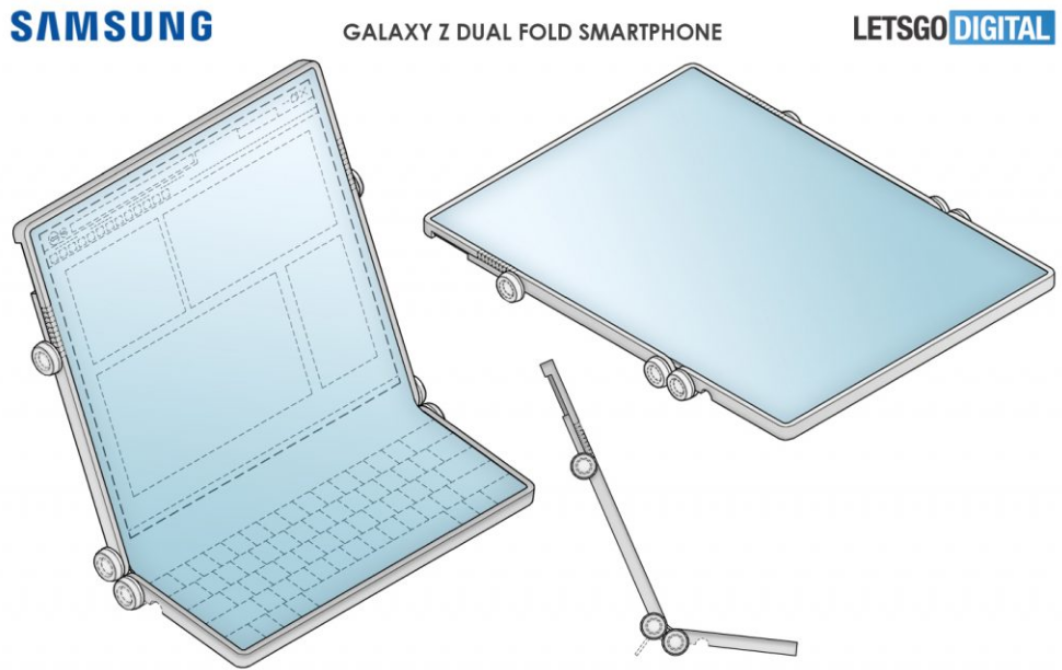 Samsung запатентовала складной гибрид смартфона, планшета и ноутбука