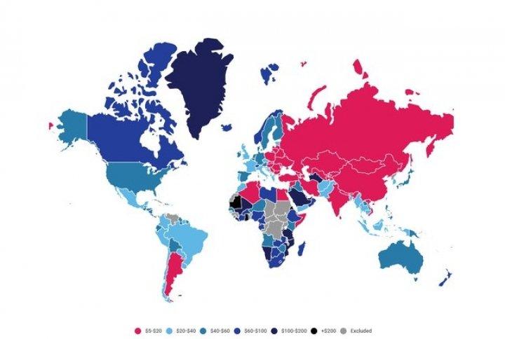 Где самый дешевый в мире интернет - статистика
