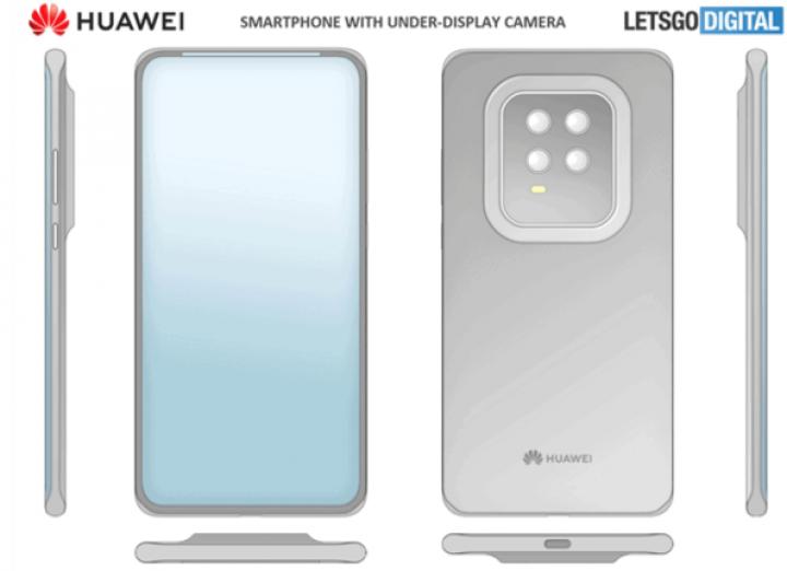 Huawei запатентовала собственную технологию подэкранной камеры