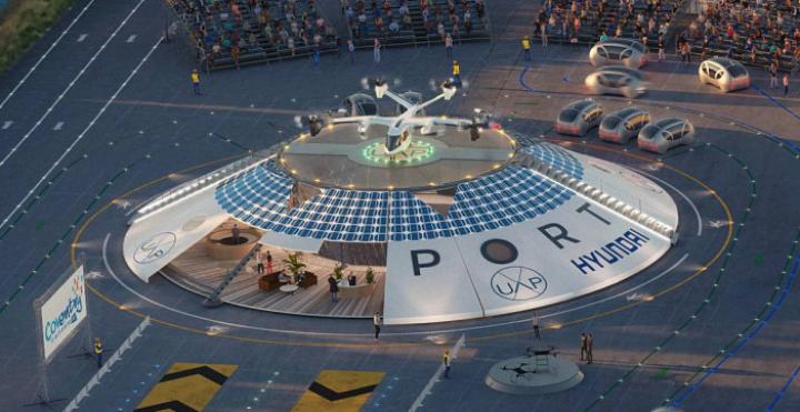Представлен первый в мире концепт хаба для летающих автомобилей