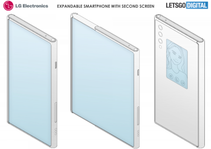 Гибкий смартфон LG с двумя экранами показали на патентных изображениях