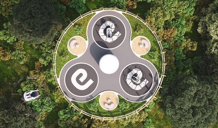 В Италии представили проект аэропорта будущего для аэротакси (фото)